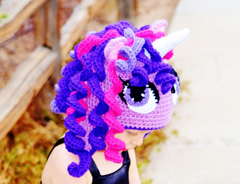 Crochet Unicorn Hat : Twilight Sparkle hat Crochet Unicorn Hat Pony by CuteLittleAgels
