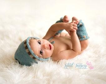 Newborn Photography Prop Set Knitting Pattern - Baby Leggings Knit Pattern - Baby Hat Knit Pattern - Newborn Leggings Knit Pattern