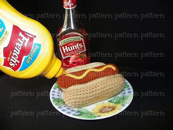 Amigurumi Hot Dog : PATTERN Hot Dog Amigurumi Crochet PATTERN