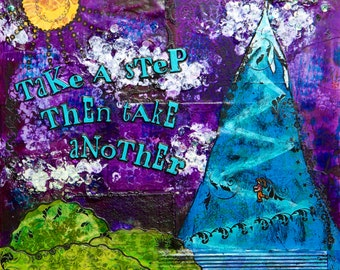 "Take Another Step Glicee Print 9"" x 9"""