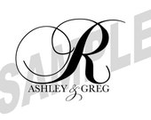 Custom Designed Digital Printable Wedding Monogram Gobo Design