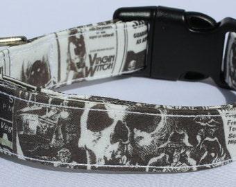 Grindhouse 70's Era Horror Movie Dog Collar