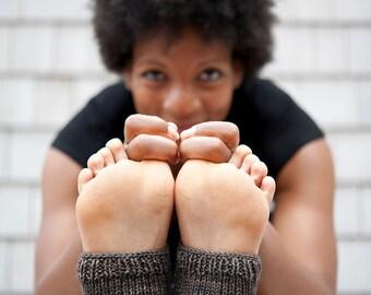 Yoga Socks, Ankle Socks, Knit Yoga Socks, Pedicure Socks, Knit Slipper Socks, Womens Slippers, Toeless Socks, Yoga Spats