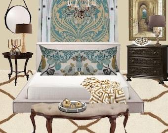 Interior Design Ideas,Customized, Digital Mood Board, E Design, Interior Decorator, , Bedroom
