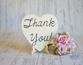 Wedding Signs/Photography Prop-Thank You!-Your Choice of Colors- Ships Quickly