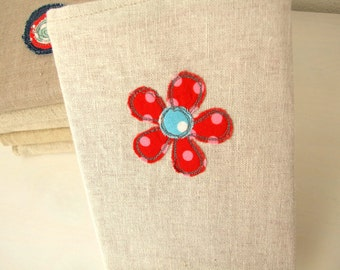 A6 Embroidered Fabric notebook with removable cover