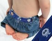 "Toddler Belt - Elastic Snap Belt - ""Little Monsters"""