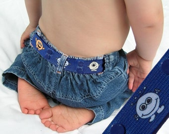 "Toddler Belt - Elastic Snap Belt - ""Little Monsters"""