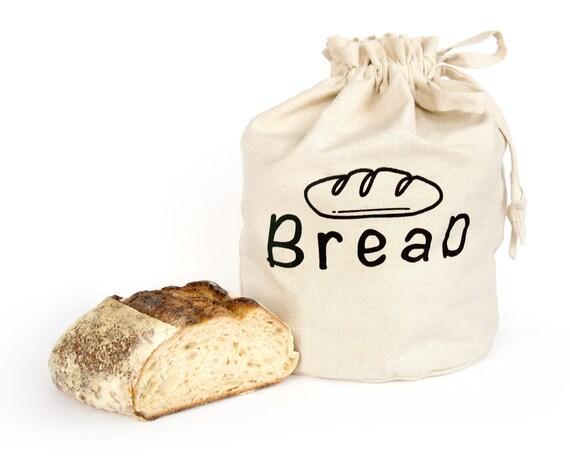 BREAD BAG: Handmade reusable eco friendly hemp organic cotton fabric storage solution. Bread bin. Kitchen organiser. Kitchen storage.