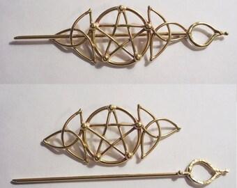 Bronze Celtic Pentagram Barrette