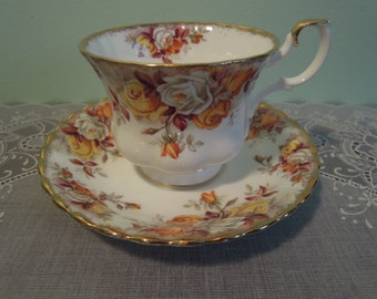 Royal Albert Lenora Teacup & Saucer - Teacup - Royal Albert Lenora Teacup - Royal Albert Teacup - Vintage Royal Albert Teacup - Royal Albert