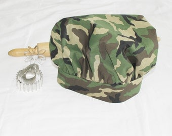 Camouflage Adult Chef Hat - Adjustable
