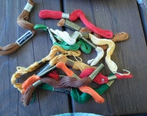 Vintage J&P Coats Embroidery Skeins NOS Assorted Colors NIP 1960s Crafting Floss