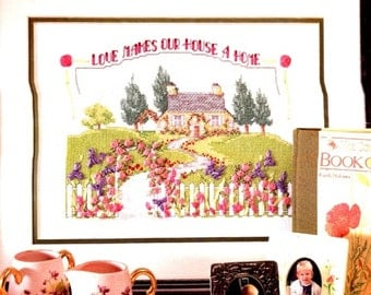 Bucilla Ribbon Embroidery ' Love Makes our House A Home' Kit Unused- 5