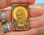 Custom made, personalized icon of Wonder-worker Saint Seraphim of Sarov (Sarow), Russian monk and mystic in the Eastern Orthodox Church,