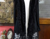 Bohemian Jacket, Black Jacket,Shabby Chic Jacket,Evening Jacket,Comfortable Jacket, Upcycled Jacket