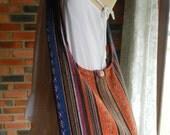 Hand Woven Cotton Bag Purse Hobo Hippie Boho Sling Crossbody Messenger IKAT Lined Top Zip A9