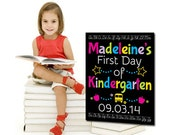 First Day of School, First Day of Kindergarten, First Day of School Sign, DIGITAL FILE, PRINTABLE,  First Day of Preschool, back to school