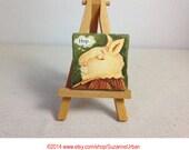Original Mini Painting-Rabbit-Twinchie Size