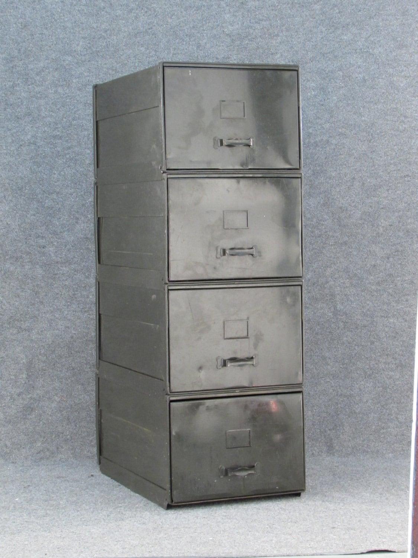 Popular Luxe Vintage Metal Filing Cabinet Encased In Reclaimed Wood  Vintage