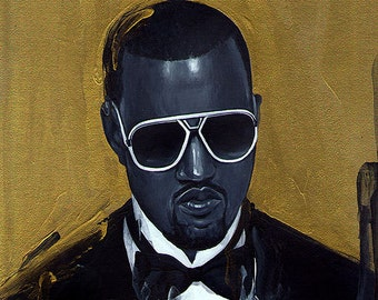 """Original painting - """"Kanye West""""- 8.5x8.5"""""""