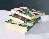"5x7"" print - book still life - ""Vonnegut Stack"""