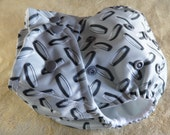 SassyCloth one size pocket diaper with metal PUL print. Ready to ship.