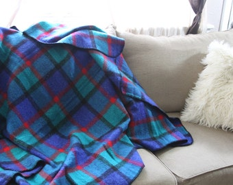 Bold colors Mexican picnic blanket- retro home decor- wall hanging