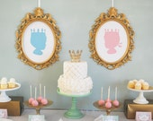 Royal Prince and Princess  Silhouettes Printables INSTANT DOWNLOAD by Itsy Belle