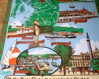 Two Novelty Linen Tea Towels - Irish linen tea towel - Novelty tea towels - two tea towels Ireland Scotland