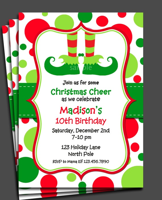 Sizzling image pertaining to printable holiday invitation