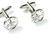 Attitude Indicator Stainless Steel Cufflinks