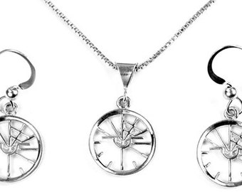 Aviation Bad Attitude Indicator Small Sterling Silver Jewelry