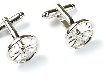 Attitude Indicator Aviation Jewelry Sterling Silver Cufflinks