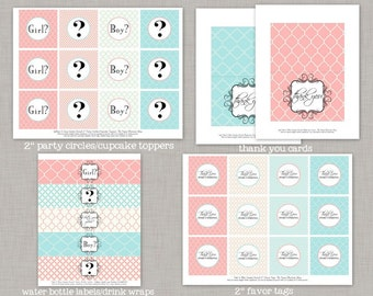Gender Reveal Party Decorations, Pink or Blue Gender Reveal Party, Printable Gender Reveal Party,DIY gender reveal banner,DIY Gender Reveal