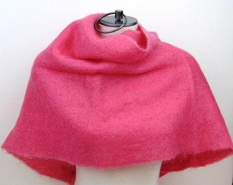 60s Shawl Pink Shawl Bright Pink Mohair Shawl 1960s Pink Evening Wrap Pink Wool Shawl Pink Mohair Scarf Pink Scarf Wool Scarf Mohair Scarf