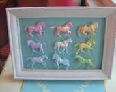 Marie Antoinette Inspired Mini Pastel Horse Display