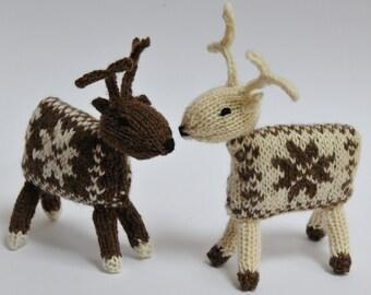 Knitted Reindeer Knitting Pattern