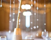 12' Acrylic Crystal Chandelier hanging garland String, wedding decoration, looks like crystal