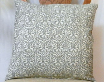 Gray Animal Print Throw Pillow Cover Home Dec Fabric, 18 x 18 inch with zipper closure for sofa, chair, bed
