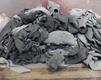 Cashmere Recycled Remnants Remnants - Light to Dark Gray 5lbs for DIY Crafts