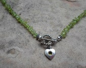 Light Green Peridot Necklace