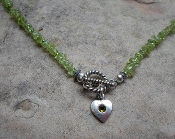 Light Green Peridot Necklace