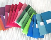 32 teeny tiny envelope note sets handmade in jewel tones miniature mini square handmade stationery weddings guest book table number party