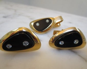 Vintage Sarah Coventry Cuff links and tie Tac Set