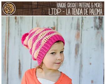 INSTANT DOWNLOAD - Crochet Slouchy Hat Pattern - Slouchy Pattern - Crochet Pattern