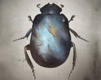 Scarab - Galaxy Print of Oil Painting