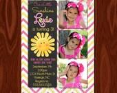 NEW - You are my Sunshine Chalkboard Invitation Printable Digital File