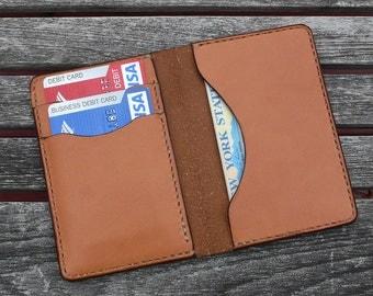 GARNY No.5 Whiskey color - Minimalist Card Case- Leather wallet - al