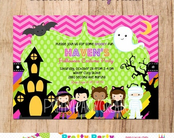 COSTUME PARTY KIDS halloween invitation - You Print